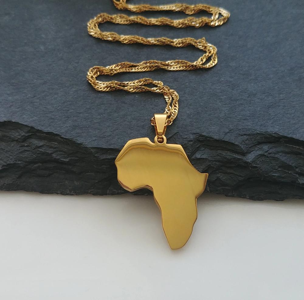 Africa Plain Pendant – Gold – Isura