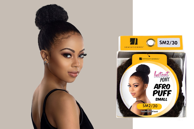 Instant Pony Afro Puff Small