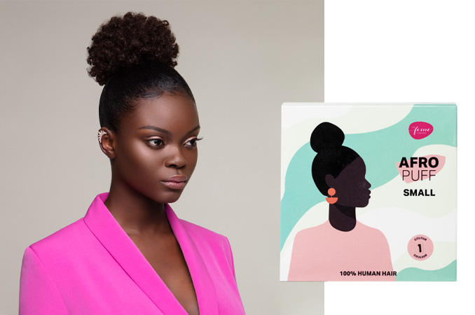 The Feme Collection Ponytail Afro Puff HH Small