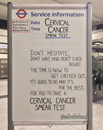 Cervical cancer - @allontheboard