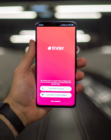 Tinder on phone