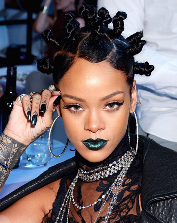Rihanna - Bantu knots