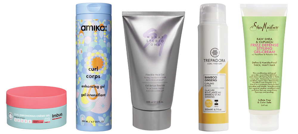 Styling gels for long-lasting curl definition