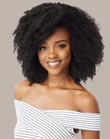 Big Beautiful Hair Clip In 4c Corkscrew Afro