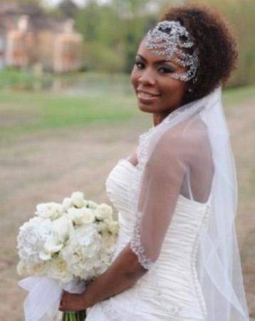 Natural wedding hair