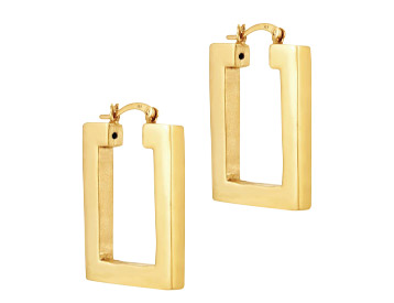 SEOL + Gold Rectangle Creoles