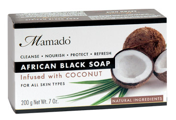 Mamado African Black Soap Infused with Coconut