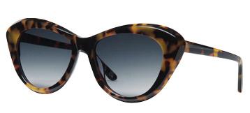 CREW Women's Cateye Sunglasses Tortoiseshell Angle