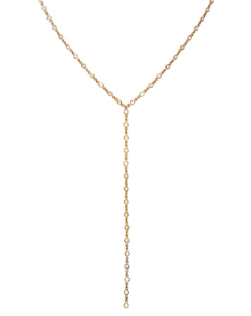 SEOL +, gold studded necklace,