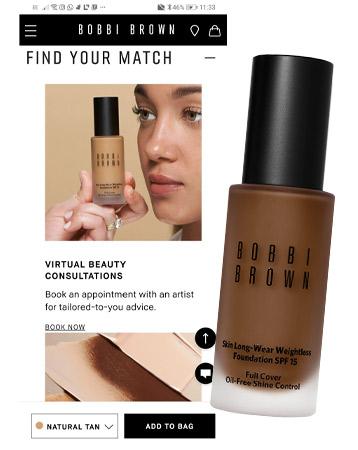 Bobbi Brown virtual beauty consultations