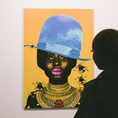 I Can't Be Stung By You (Blue) A2 Giclee Print by Chinakwe