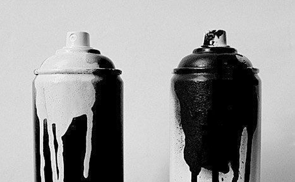 spray paint yin yang