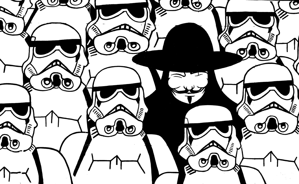 V among stormtroopers