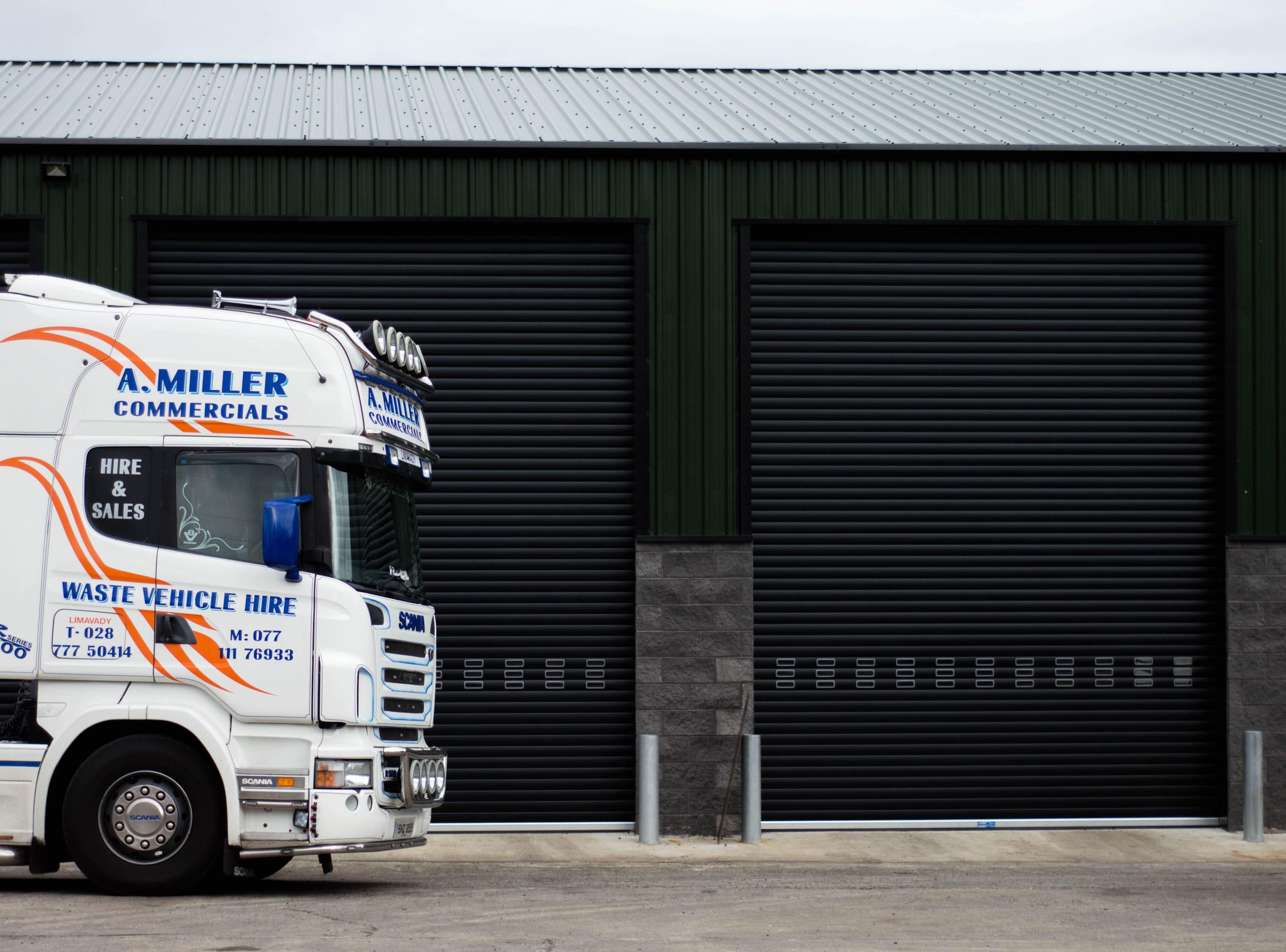 Millar Waste Management Limavady - Insulated Industrial Door LRD03