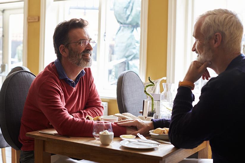 Older men on date