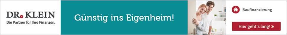 Signaturbanner Dr. Klein Günstig ins Eigenheim