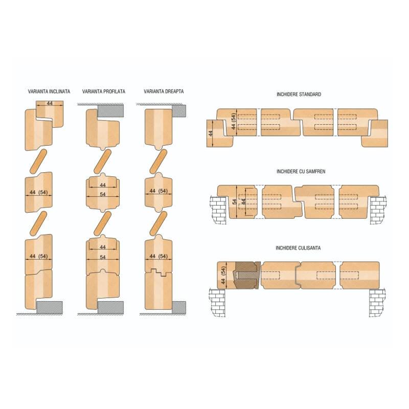 Freze pentru obloane din lemn