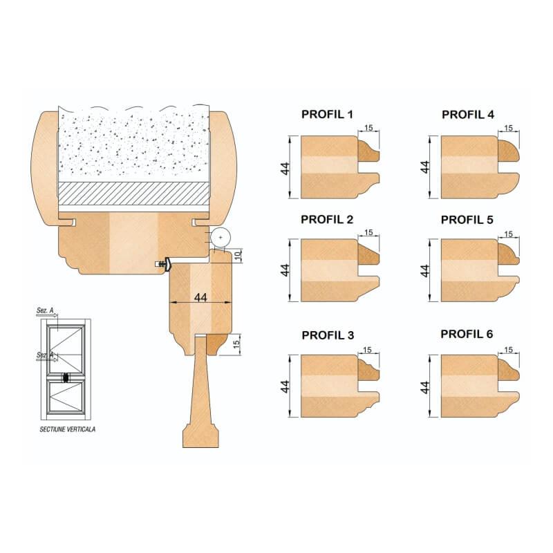 Freze pentru Lemn - Usi de Interior