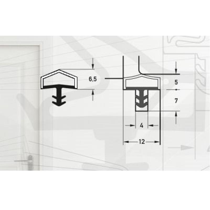 Garnitura pentru usi de interior -pt.falt12mm-art. M7292/12