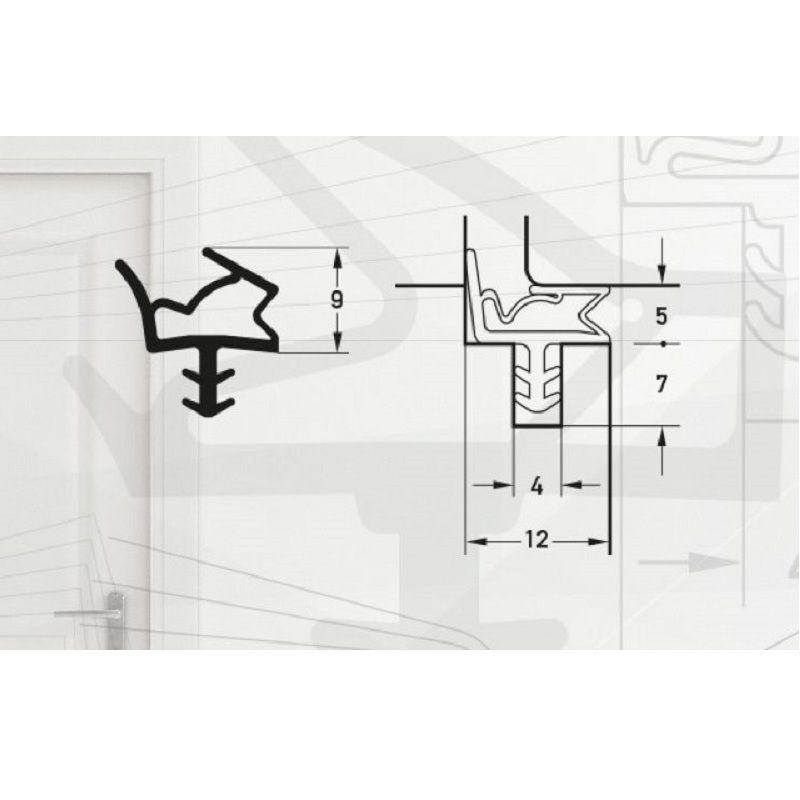 Garnitura pentru usi de interior -pt.falt12mm-art. S6612