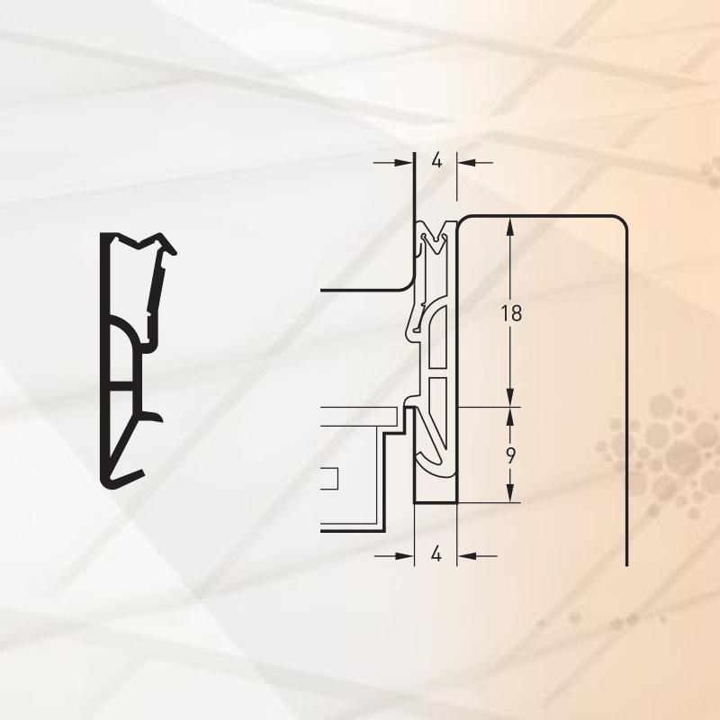 Garnitura pentru ferestre - pt.falt18mm-art.SV418-TPE