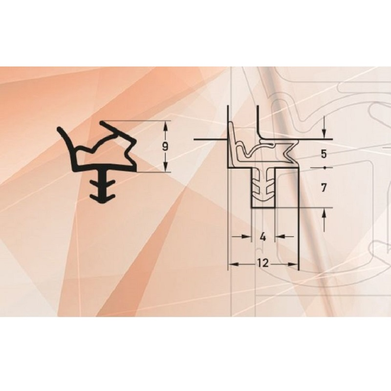 Garnitura antifoc pentru usi de interior art. S6612/O