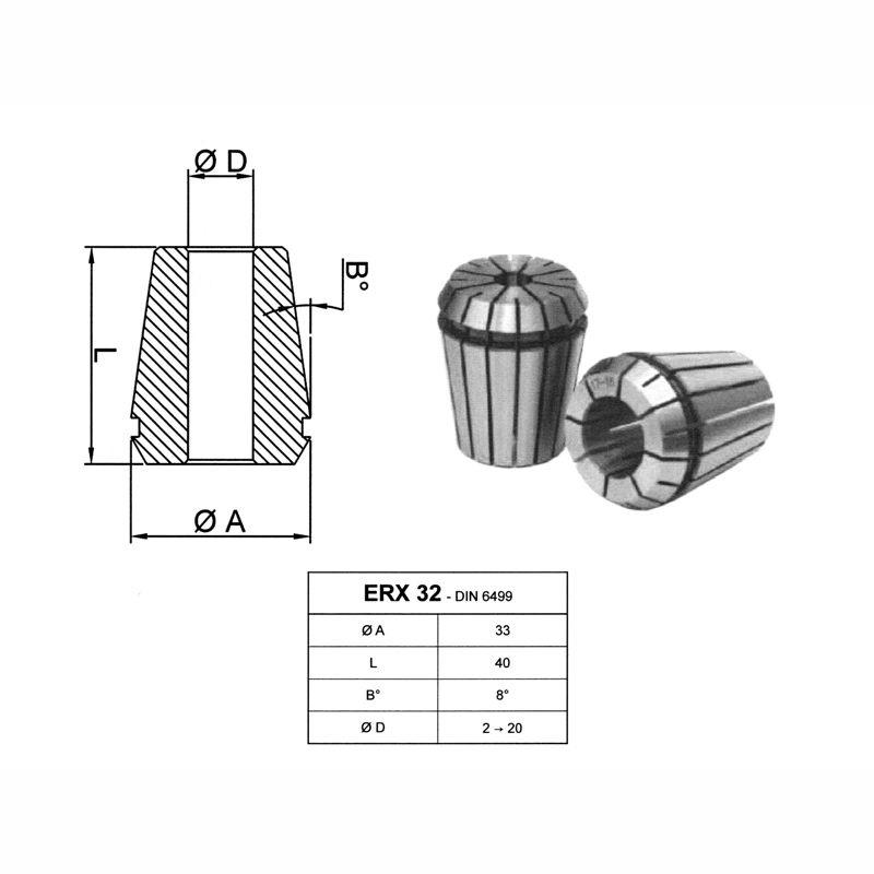 Penseta elastica ERX 32 - DIN6499