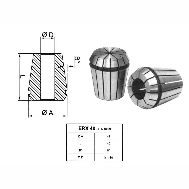 Penseta elastica ERX 40 - DIN6499