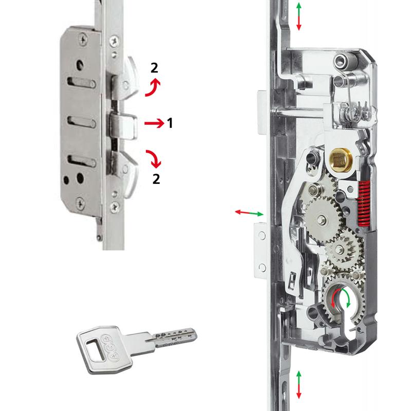 Broascamultipunctantiefractie -  pentru usi de intrare - Sicurtop