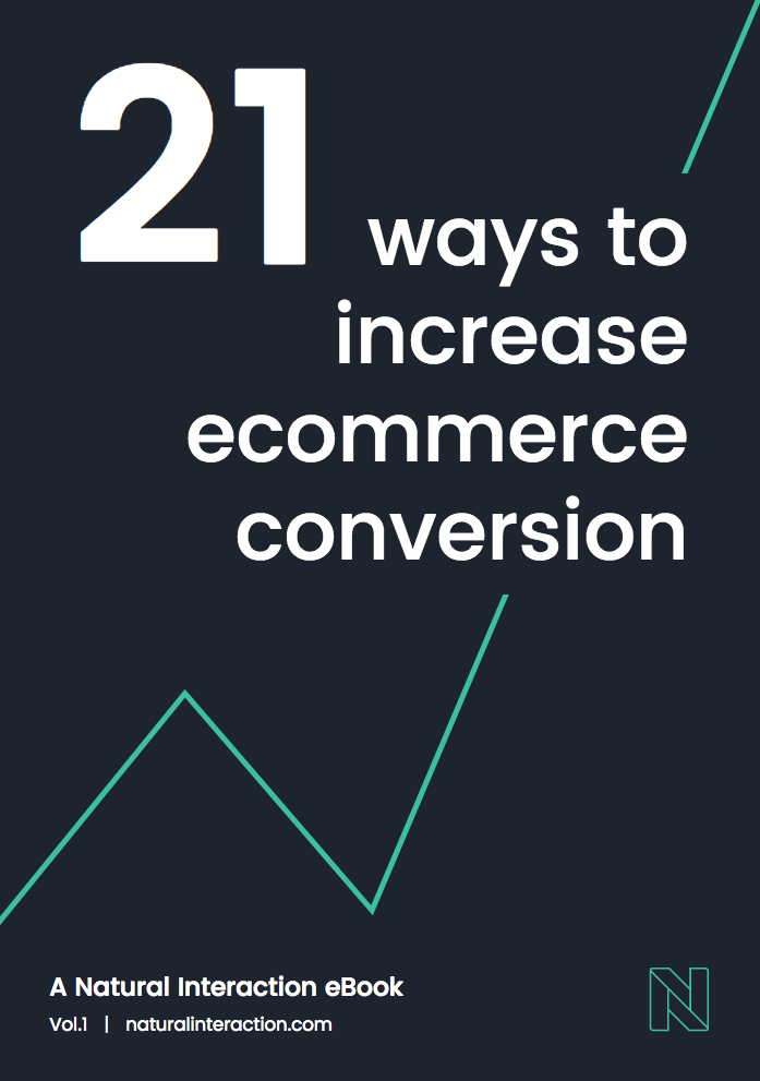 Our ebook - 21 ways to increase eCommerce conversion