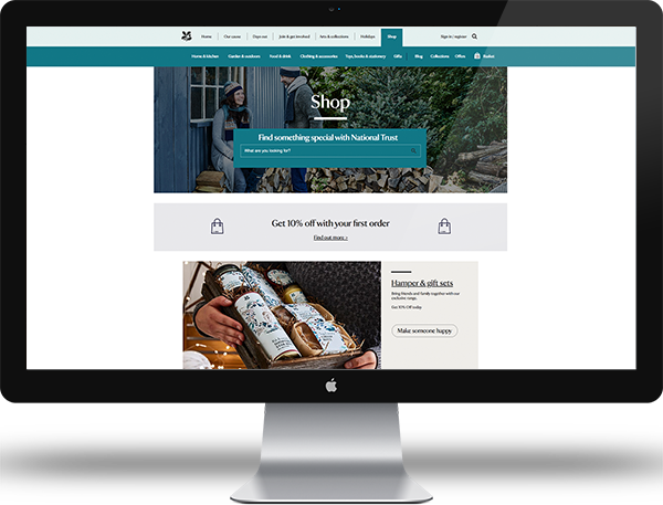 A screenshot of the shed product page on National Trust shop