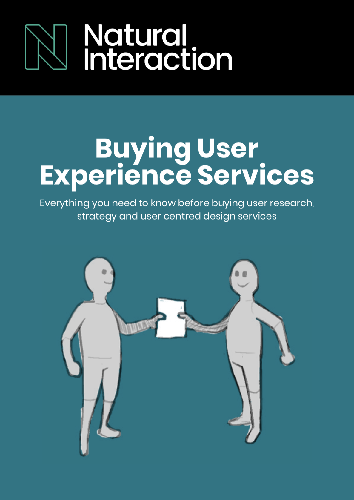The cover of an eBook - Buying User Experience Services
