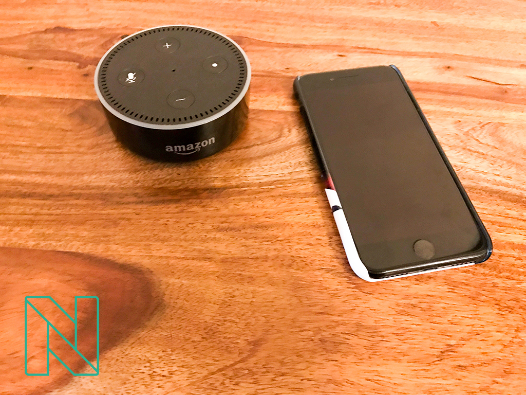 echo and iphone on table