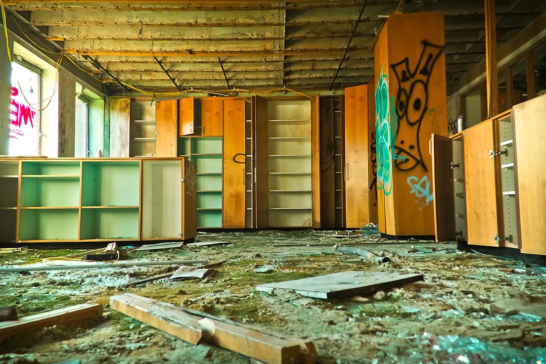 Abandoned high street shop