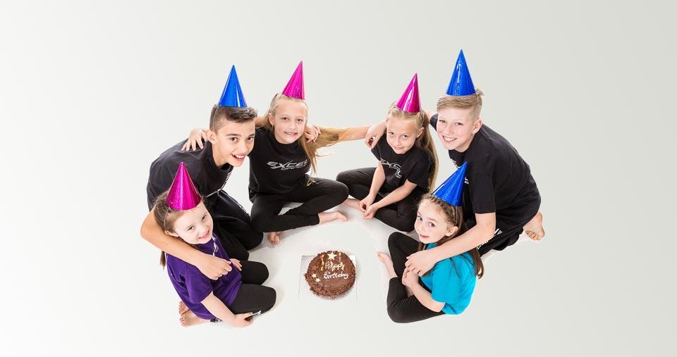 Dance birthday parties at Excel Dance