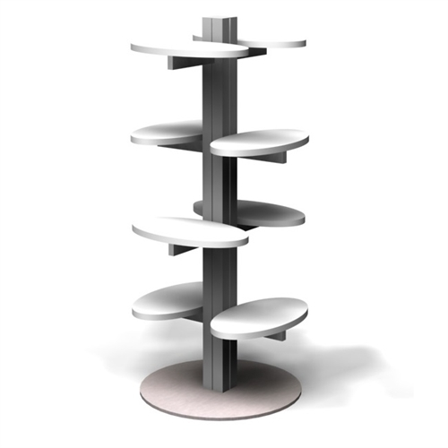 Exhibition Stand Shelves : Four shelf cardboard display racks floor display stand fixing with