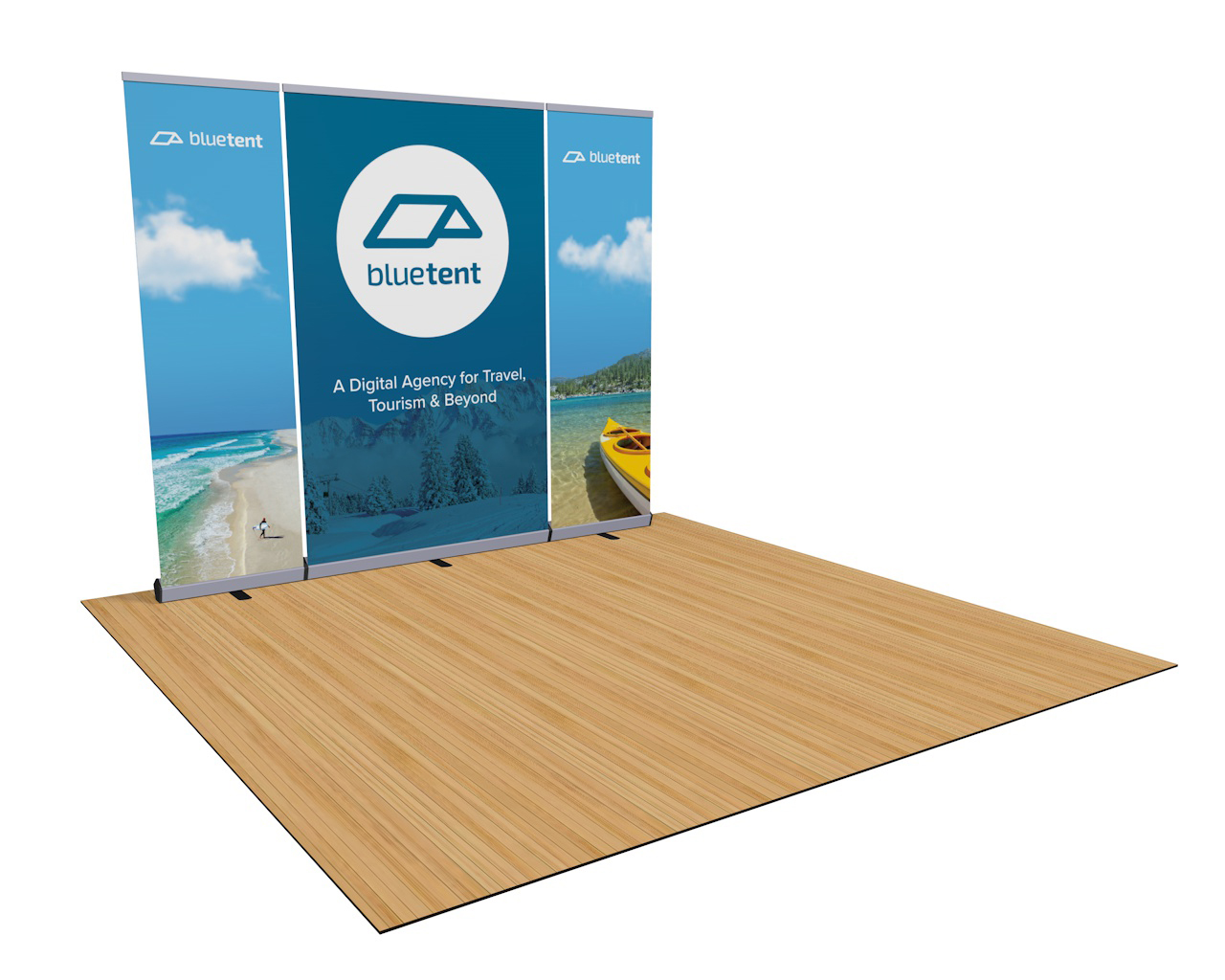 Trade Display Stands : Penta deluxe banner stand wall trade show booth display