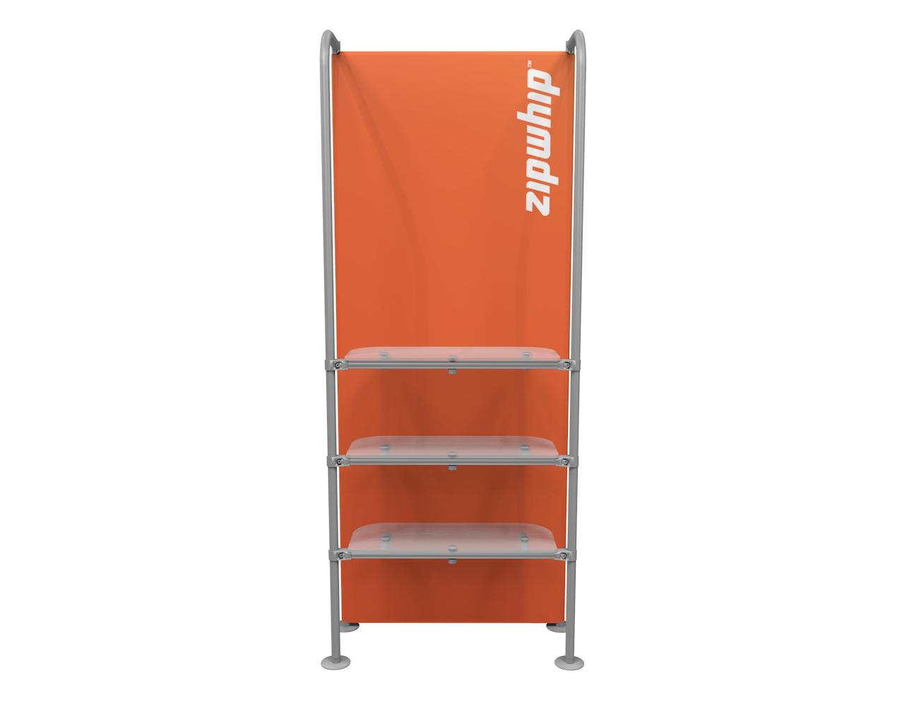 "Waveline Merchandiser 89"" Three Shelves"