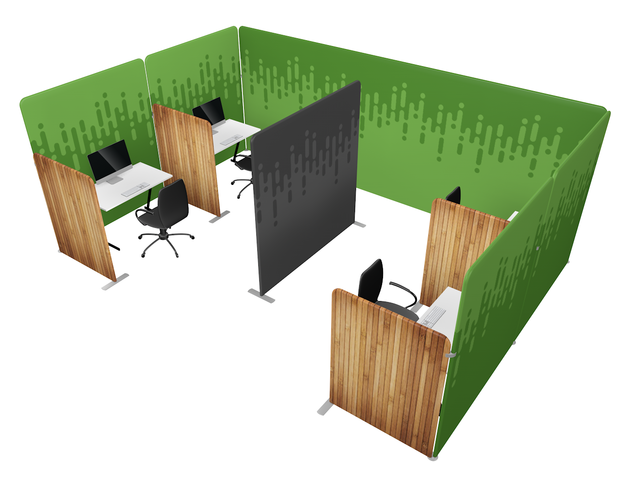 Workplace Divider Kit 4