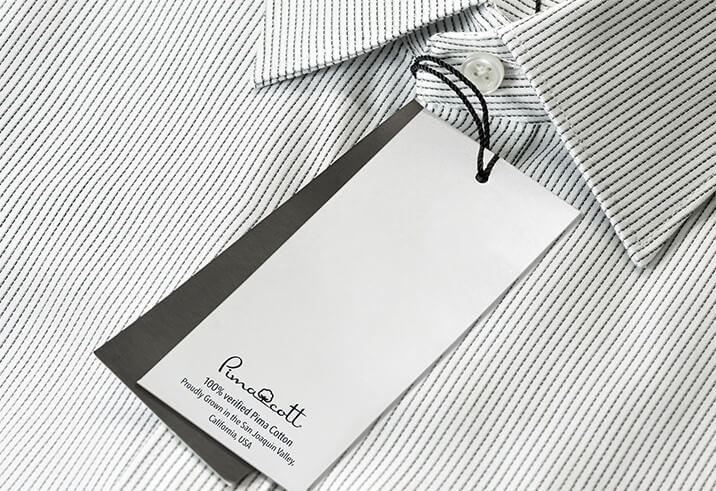 Shirt with a PimaCott tag