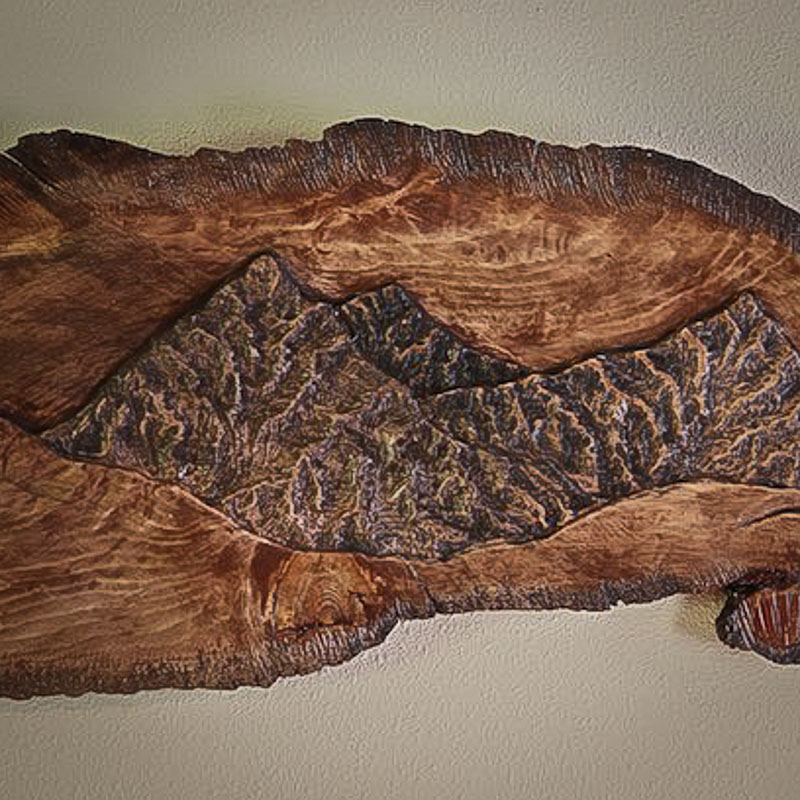 Mountain scene relief sculpture *