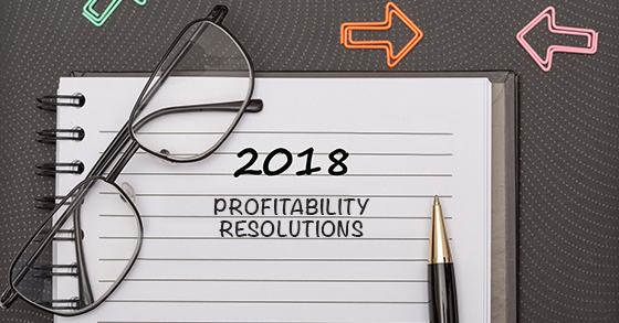 Make New Year's resolutions to improve profitability