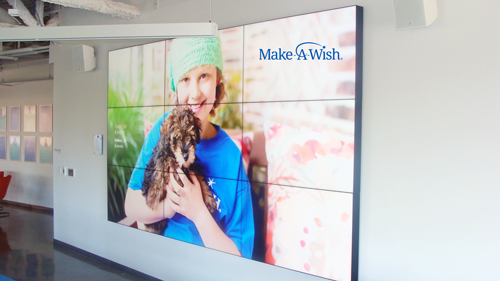 Planar Video Wall by Immedia at Make A Wish America