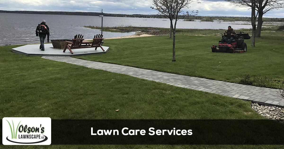 Lawn care services provided by Olson's Lawnscape in Escanaba, Gladstone, Marquette, Iron Mountain, and Menominee Michigan.