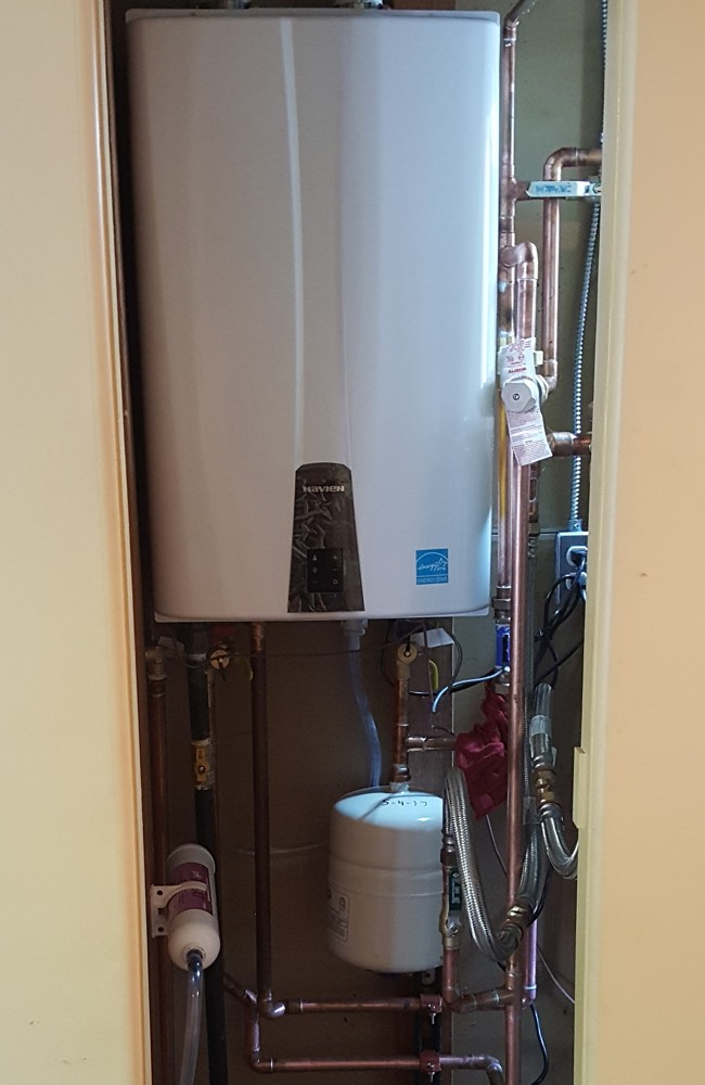 High efficiency tankless water heater installed in Denver
