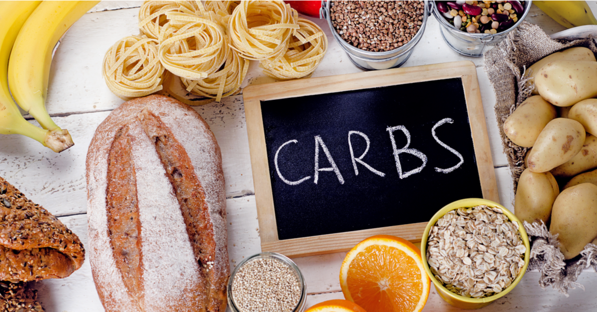 carbs written on a chalk board