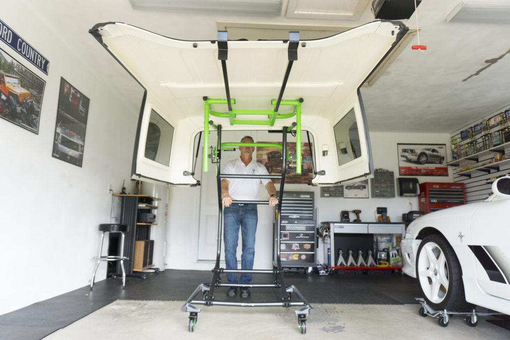 TopLift Pros Jeep hardtop storage