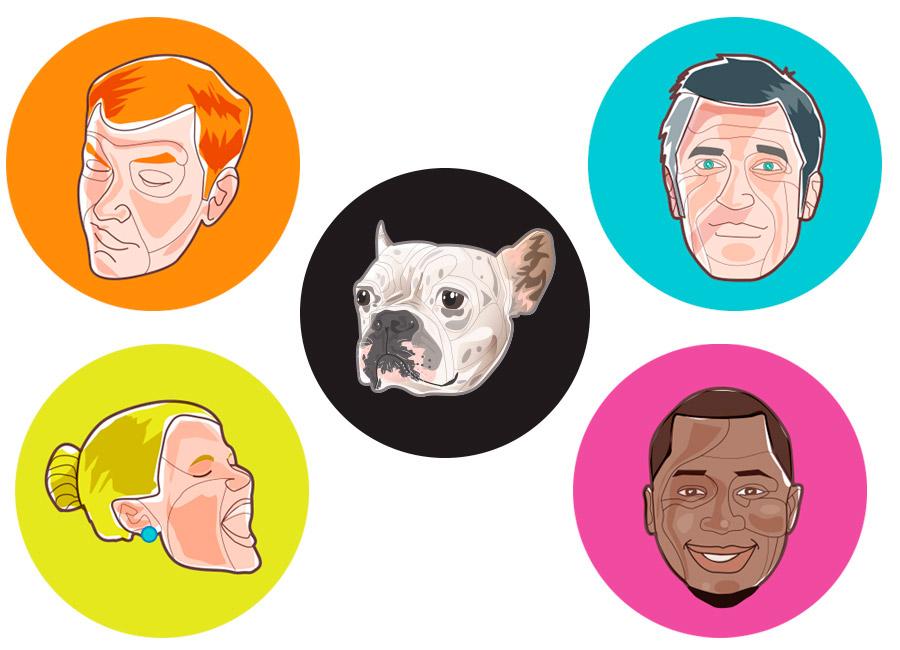 Pessoas diferentes precisam de formas de comunicação diferentes. Na imagem, várias pessoas com fisionomias diferentes, e até mesmo um cachorrinho, mostram a diversidade.