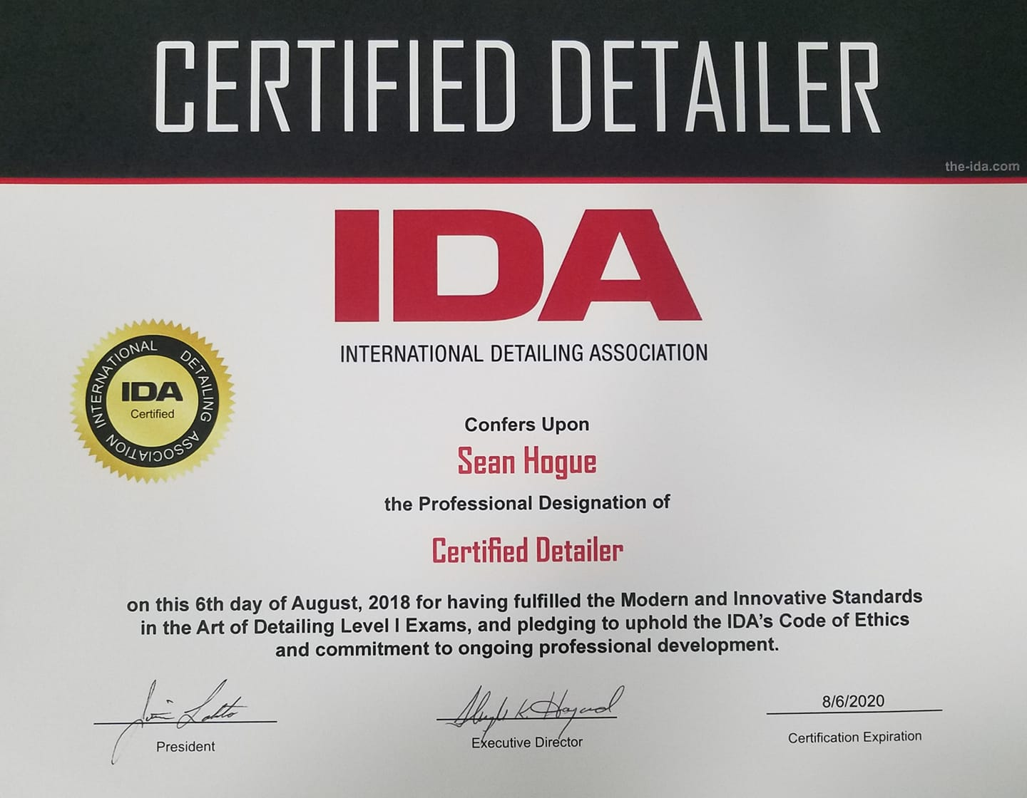 International Detailing Association Member