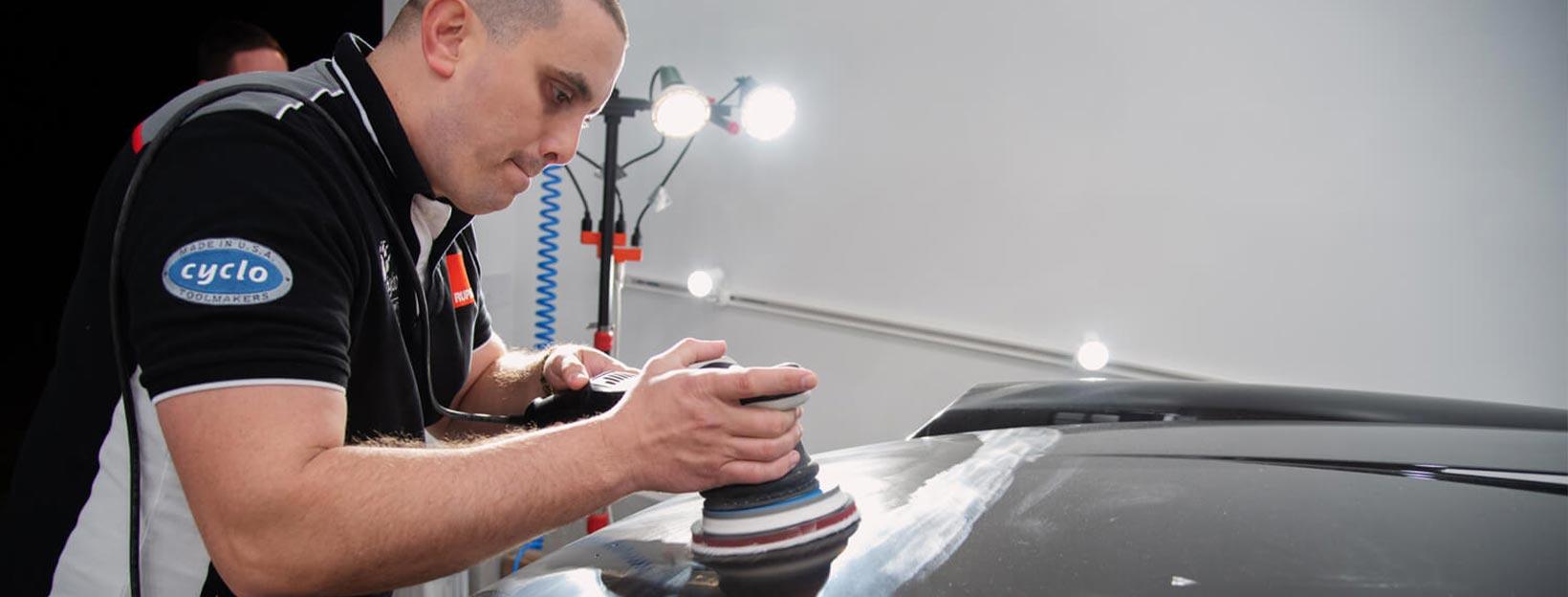 Paint correction before applying ceramic car coating